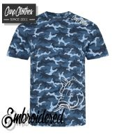 008 EMBROIDERED  CAMO T-SHIRT